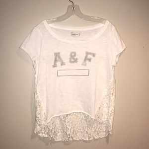 NWOT Abercrombie and Fitch lace short sleeve shirt